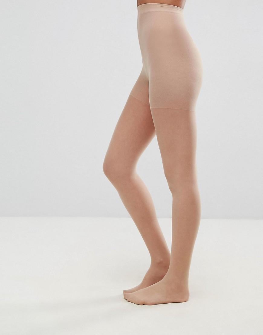 148089c75 ASOS 15 Denier Matt Nude Tights in Natural - Lyst