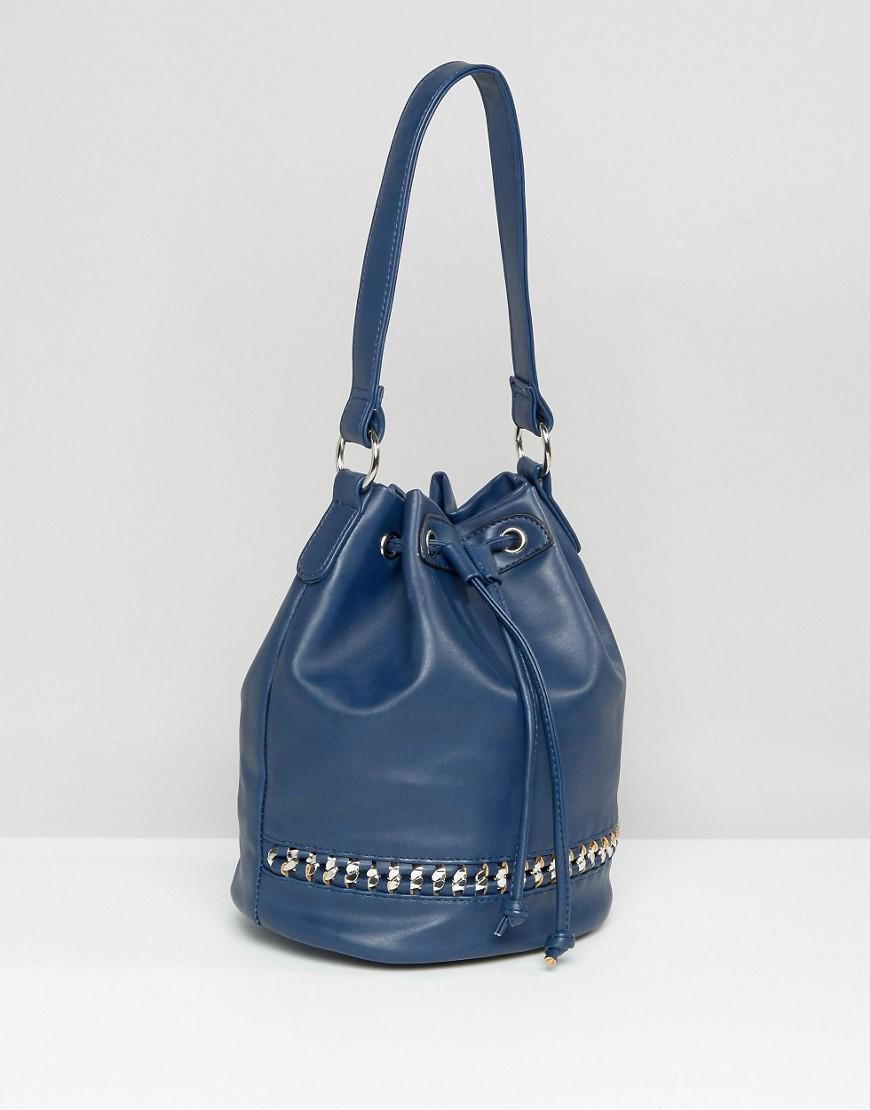 Yoki Fashion Yoki Chain Detail Shoulder Bag in Blue - Lyst 99ae4bd32287e