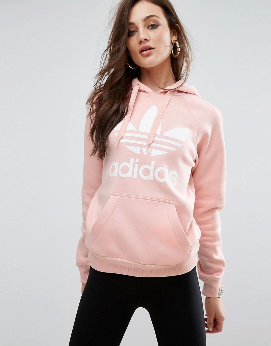 Adidas Originals Originals Pink Trefoil Boyfriend Hoodie