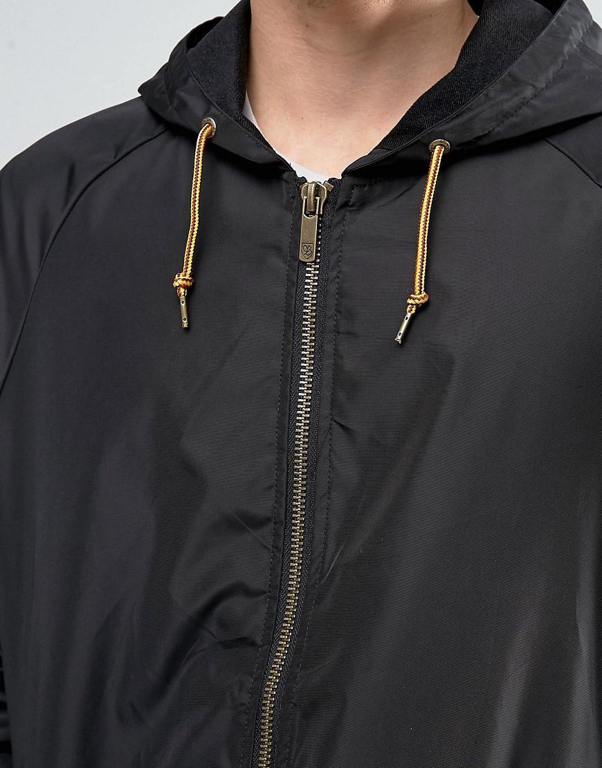 572050a7336b Lyst - Brixton Claxton Windbreaker Jacket With Hood in Black for Men