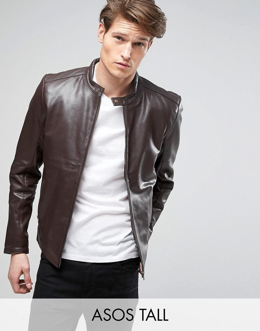 Big and Tall men's motorcycle leather jacket in classic style. An almost indestructible top quality jacket! Made from top grain, heavy black buffalo leather, and features adjustable belt, zip out lining, inside chest pocket, snap down collar, heavy duty hardware, 3 zippered pockets on front, and zip cuffs/5(21).