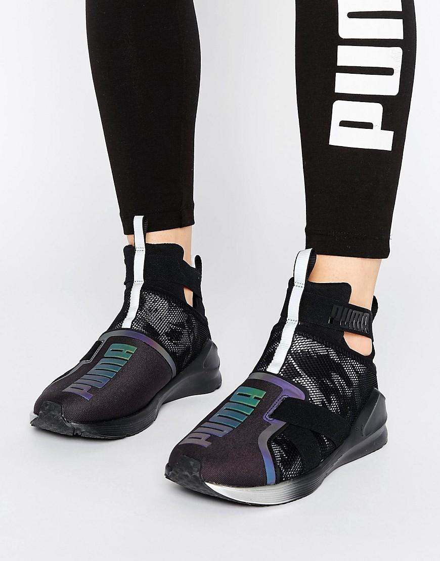 e24547e7065ab1 PUMA Fierce Strap Swan Sneakers In Black in Black - Lyst