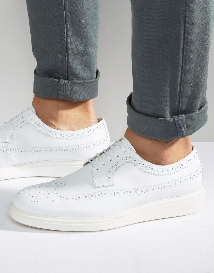 Vagabond White Chunky Lace Up Shoes
