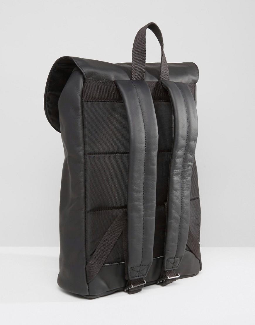 Leather Eastpak Backpack: Eastpak Ciera Leather Backpack Black In Black For Men