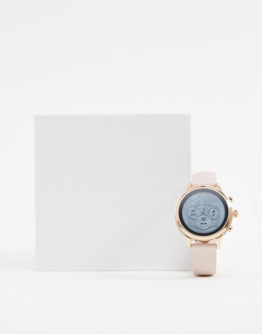 b79a4b833ec1 Michael Kors Access Mkt5048 Runway Leather Smart Watch 41mm in Pink ...