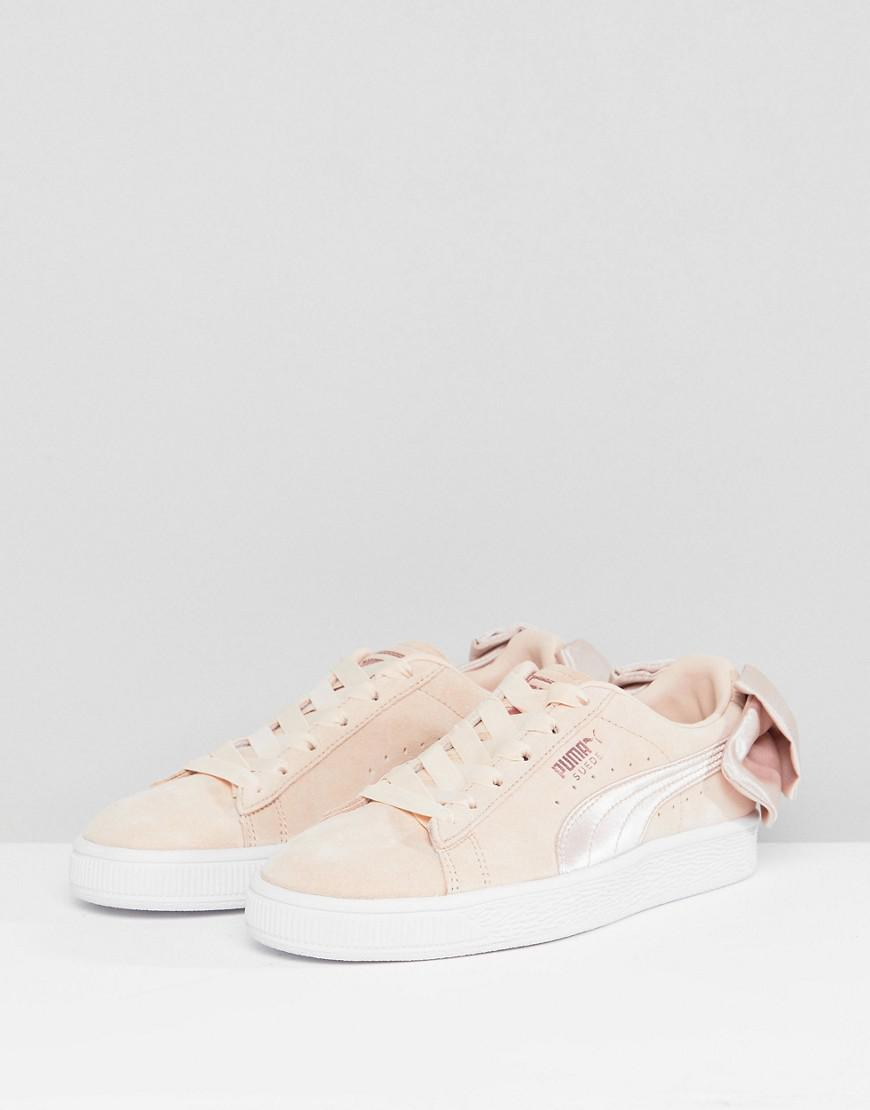 b92ebad675c PUMA Suede Bow Valentines Sneakers In Pink in Pink - Lyst