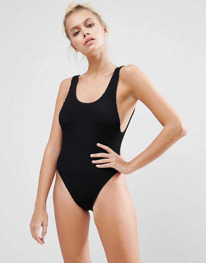 68d3481466 Lyst - Bond-eye Bound By Bond-eye Crinkle Swimsuit in Black