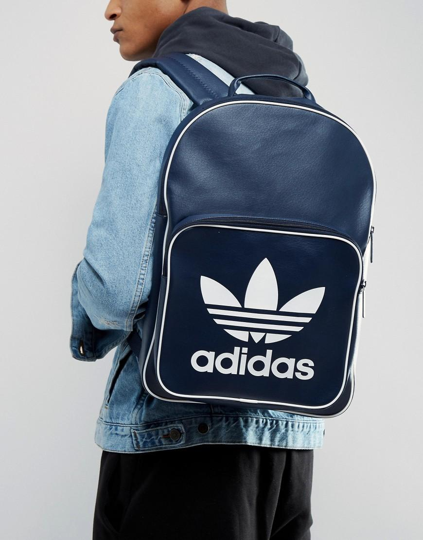 5dd42909be Lyst - adidas Originals Retro Backpack In Navy Bk2106 in Blue for Men