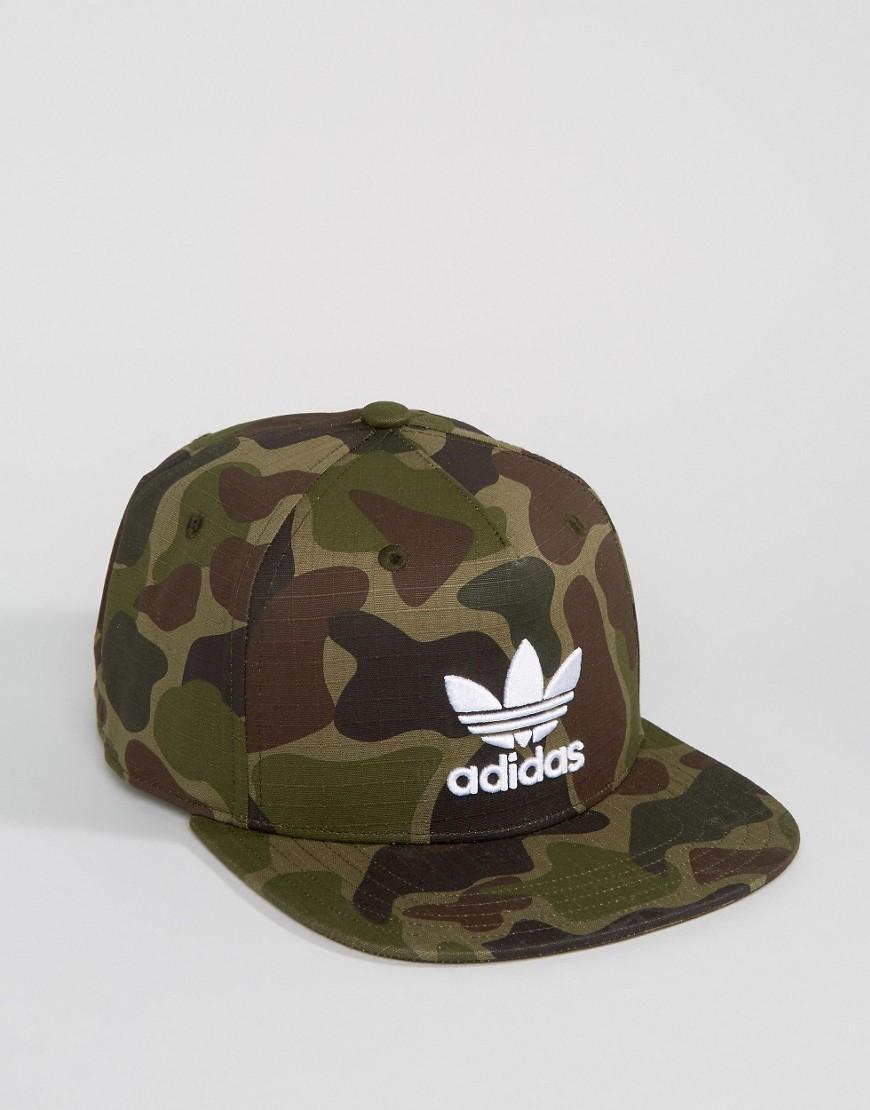 Lyst - adidas Originals Snapback Cap In Camo Bk7497 in Green for Men 1cfa1647244