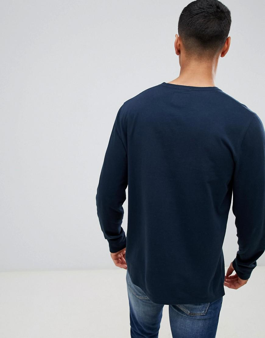f4db3464 Abercrombie & Fitch Pop Icon Logo Long Sleeve Top In Navy in Blue for Men -  Lyst