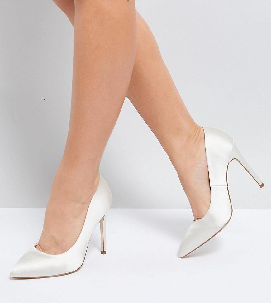a9f60f39ee ASOS Asos Paris Wide Fit Pointed High Heeled Court Shoes In Ivory in ...