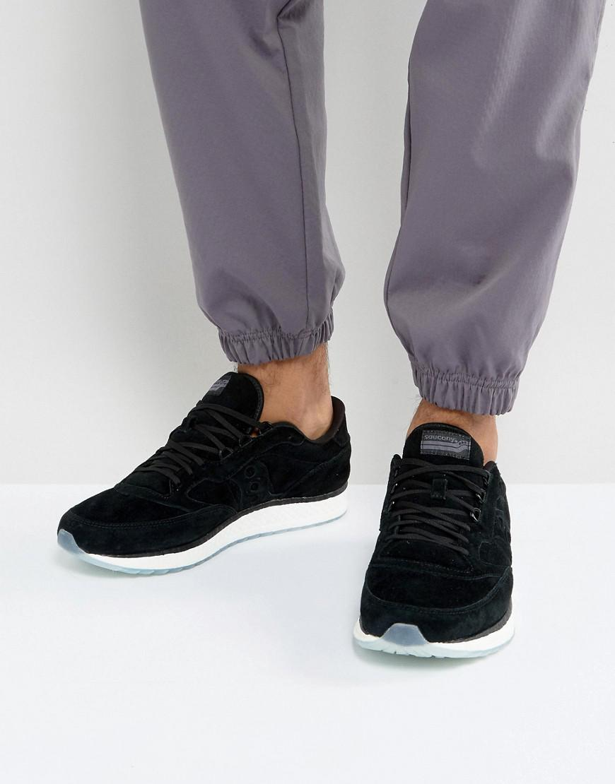 dbbed2d2e182 Lyst - Saucony Freedom Runner Sneakers In Black S40001-2 in Black ...