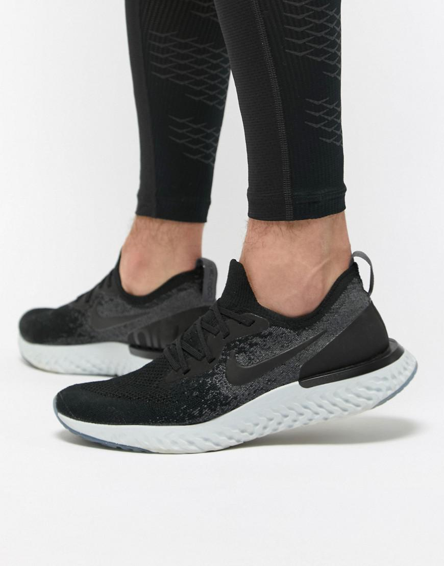 new arrival 2403c 547a4 ... best price nike. mens epic react flyknit trainers in black 866f4 70b2c