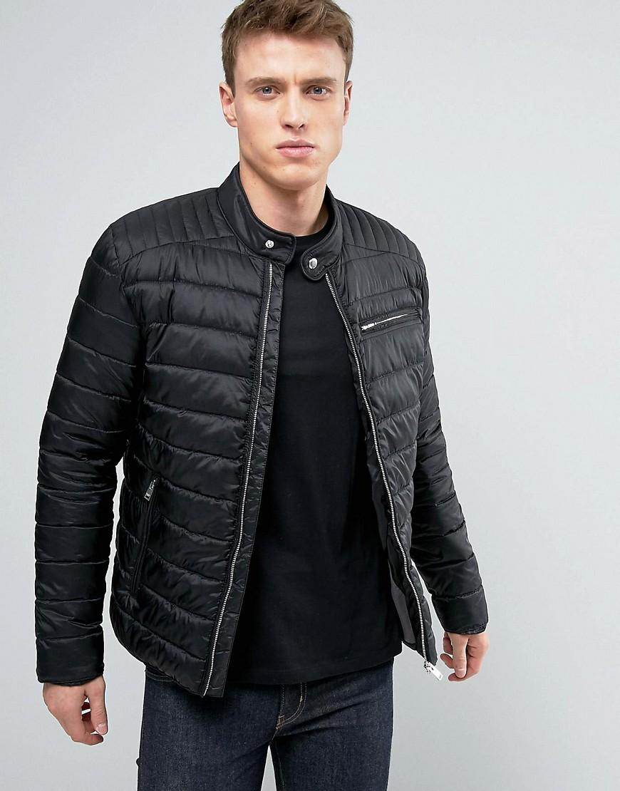 Selected quilted jacket in black for men lyst for Quilted jackets for men