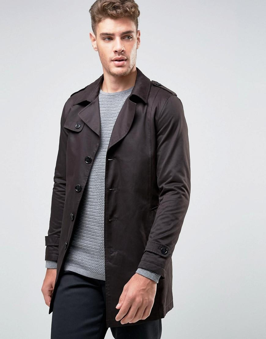 lyst selected trench coat in black for men. Black Bedroom Furniture Sets. Home Design Ideas