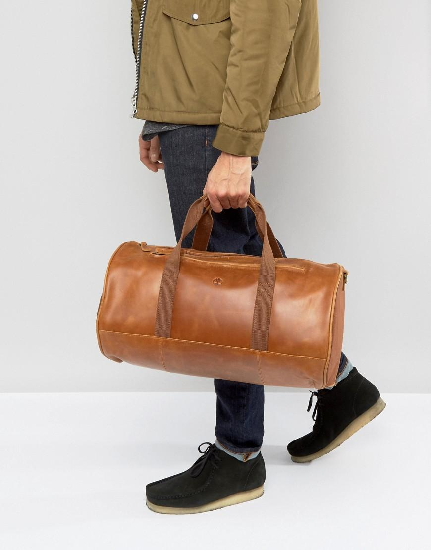 Timberland Leather Duffle Bag Brown In Brown For Men Lyst