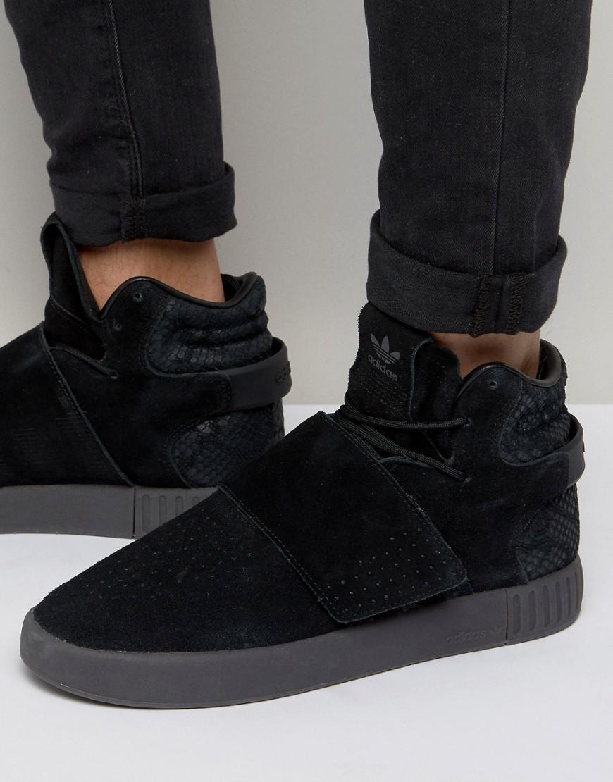 finest selection 444c4 d1962 adidas Originals Tubular Invader Str Sneakers In Black Bb839