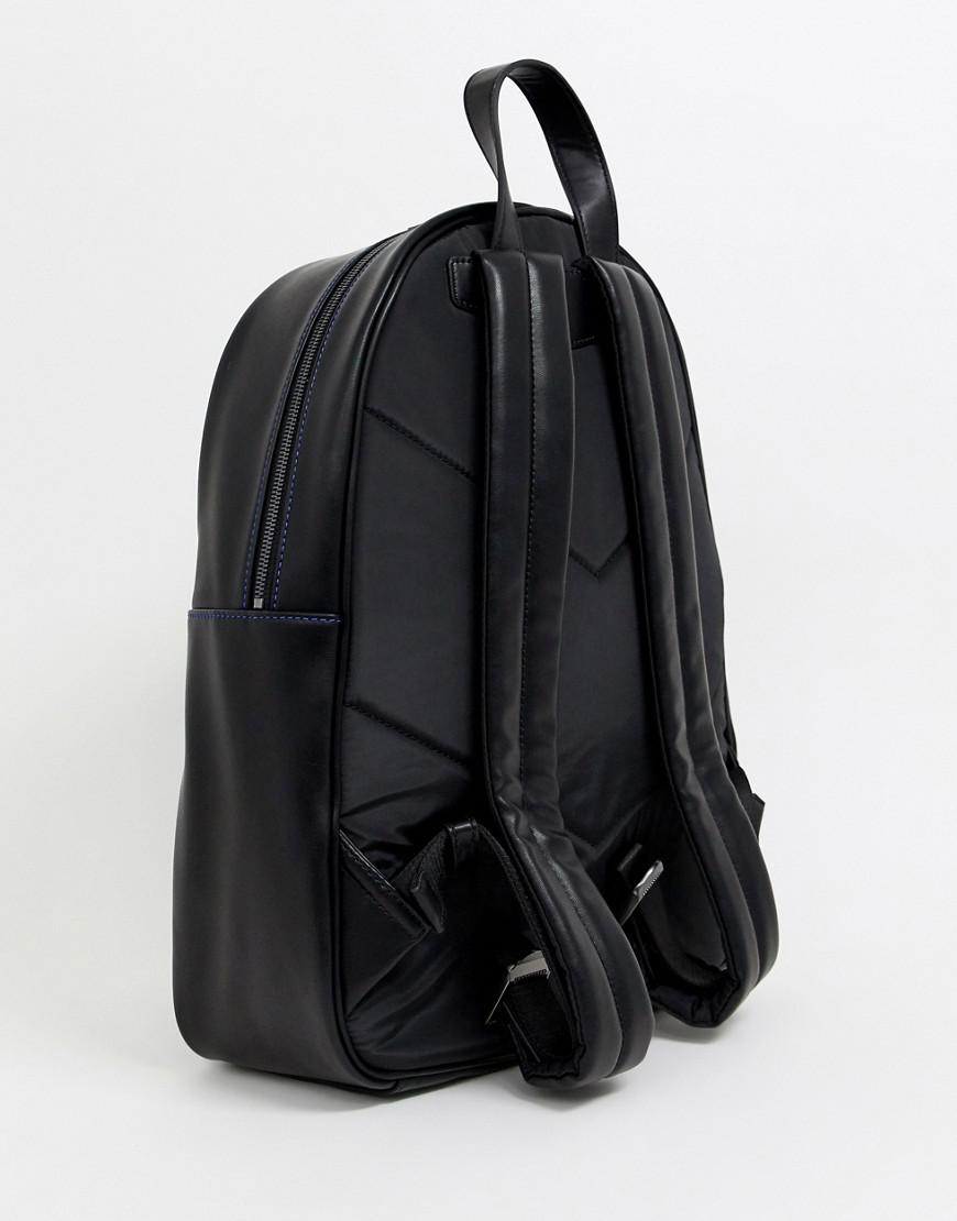 bd359ab5e14b Emporio Armani Embossed Large Eagle Backpack In Black in Black for Men -  Save 25% - Lyst