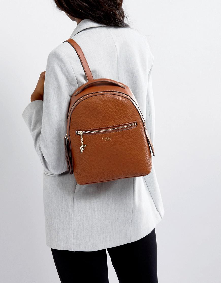Fiorelli Mini Anouk Tan Tumbled Backpack in Brown - Lyst