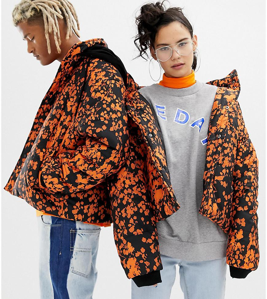 2734b7984172 Collusion Unisex Printed Puffer Jacket With Removeable Hood - Lyst