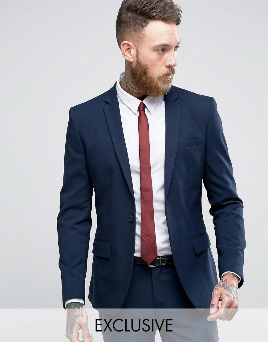Only & sons Super Skinny Suit Jacket In Navy in Blue for Men   Lyst