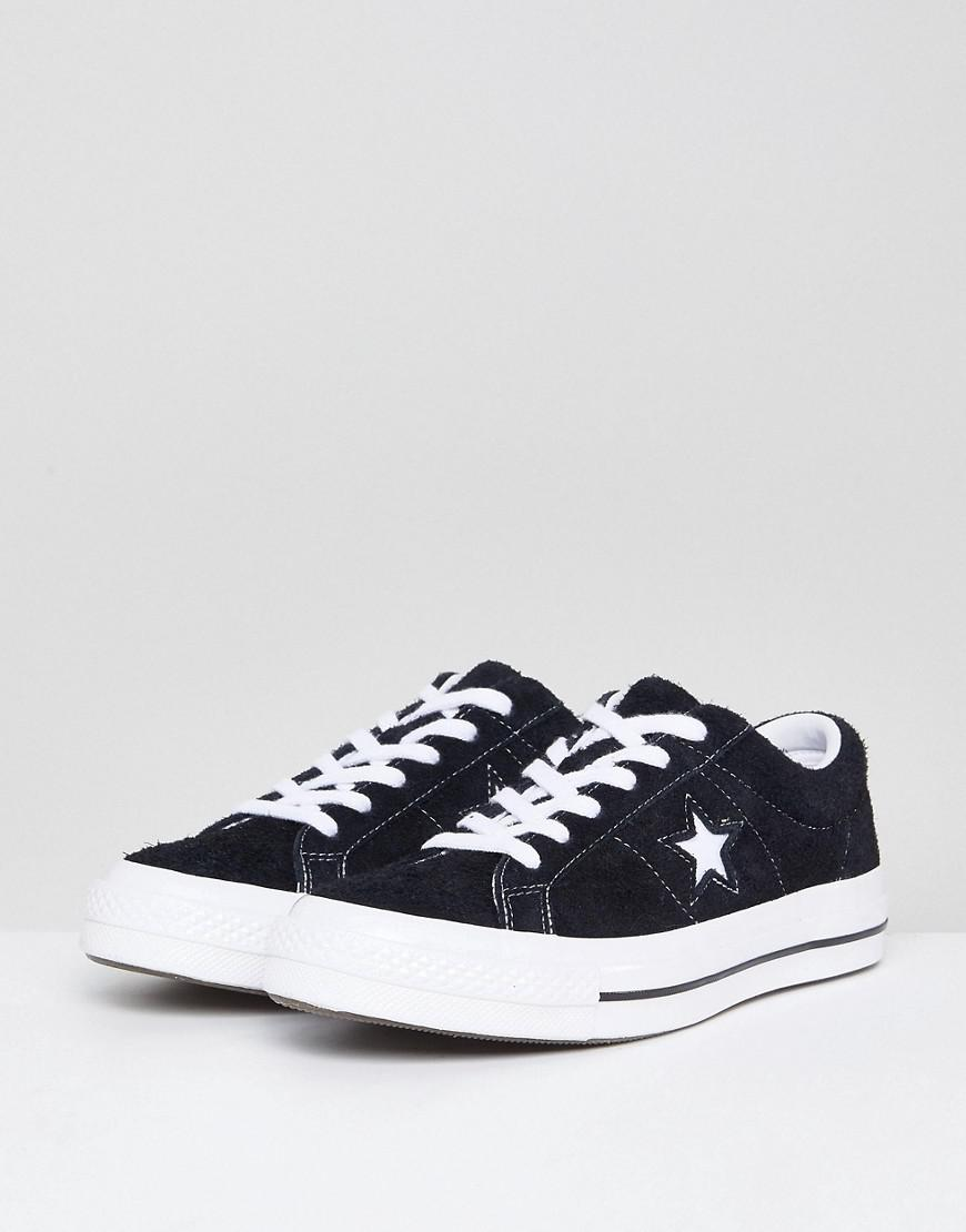 7d0e260951f5 Lyst - Converse One Star Ox Sneakers In Black in Black