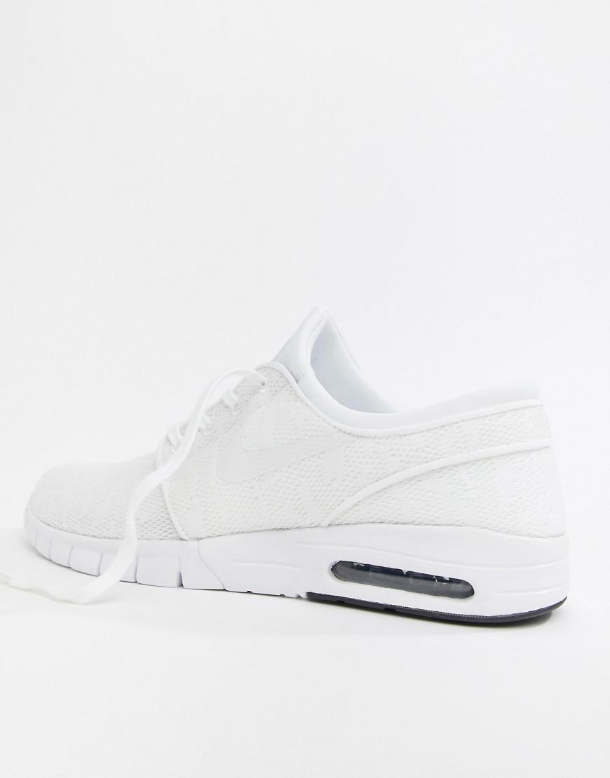 reputable site cc63a 00ec6 Nike - Stefan Janoski Max Skateboarding Trainers In White 631303-114 for Men  - Lyst. View fullscreen