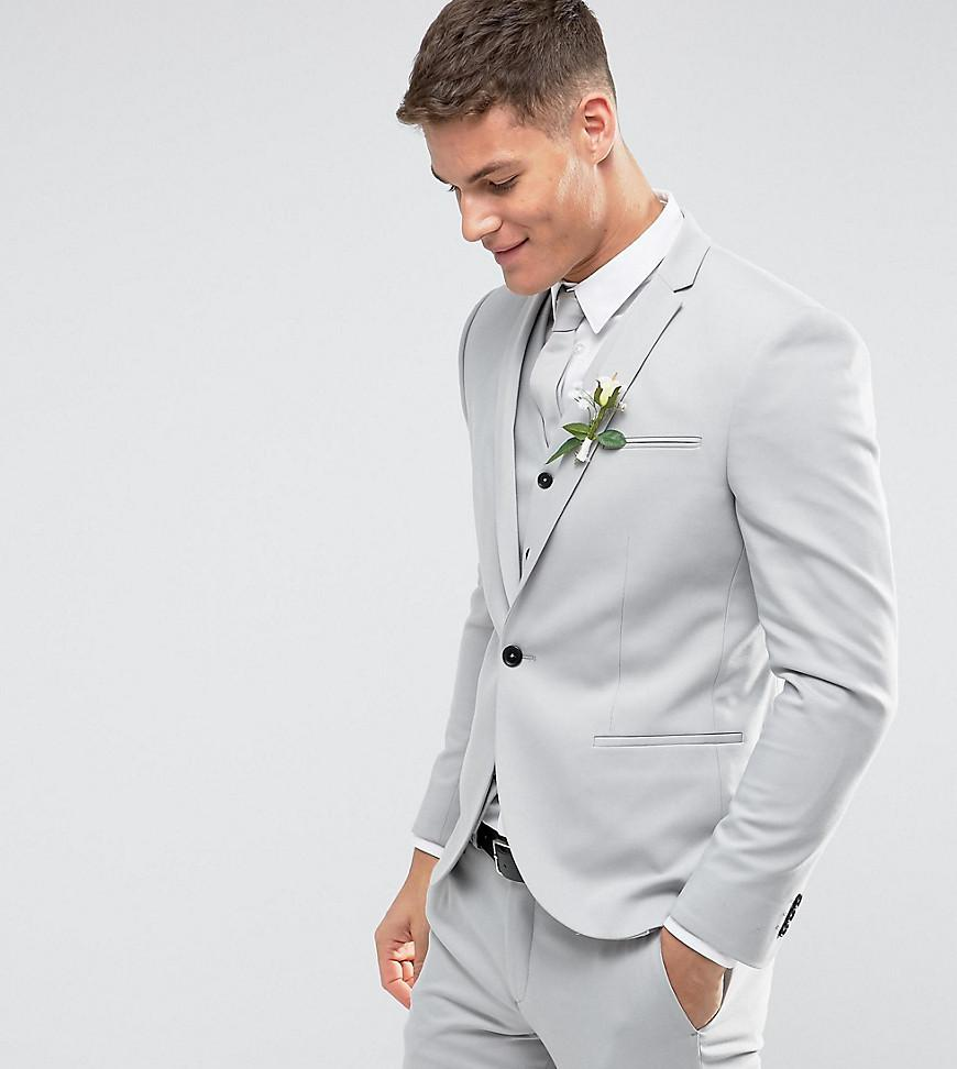 Lyst - Noak Slim Wedding Suit Jacket In Pale Grey in Gray for Men
