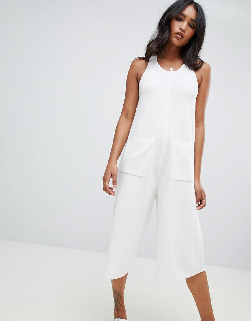 e18a8b6ca6 Micha Lounge Oversized Cropped Jumpsuit in White - Lyst