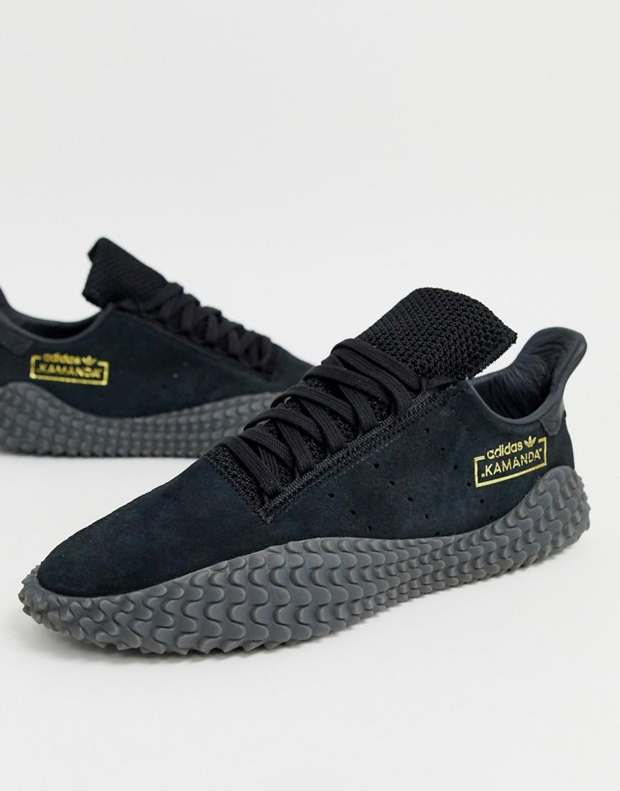 premium selection 372b9 9bdb8 adidas Originals Kamanda Trainers Triple Black in Black for Men - Lyst