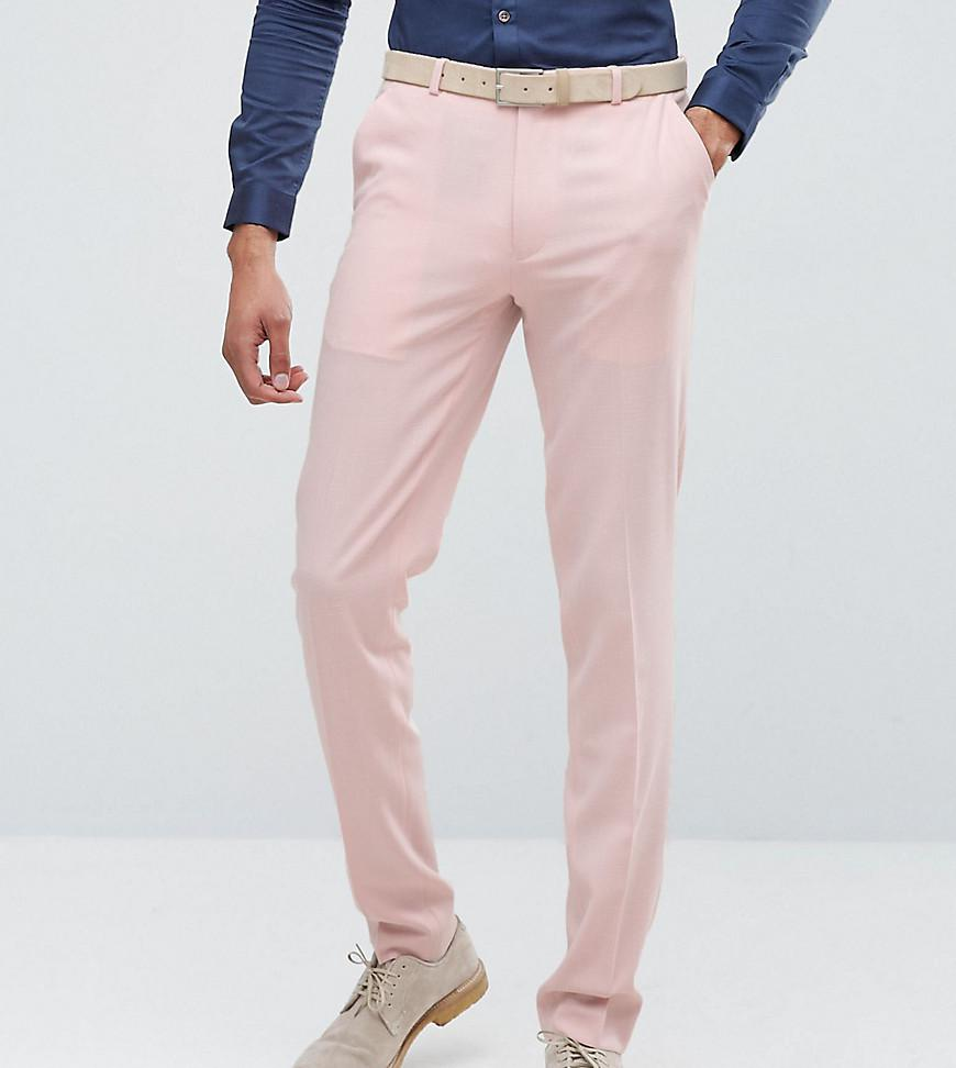 TALL Wedding Skinny Suit Trousers In Pink Cross Hatch - Pink Asos JyvbCdF
