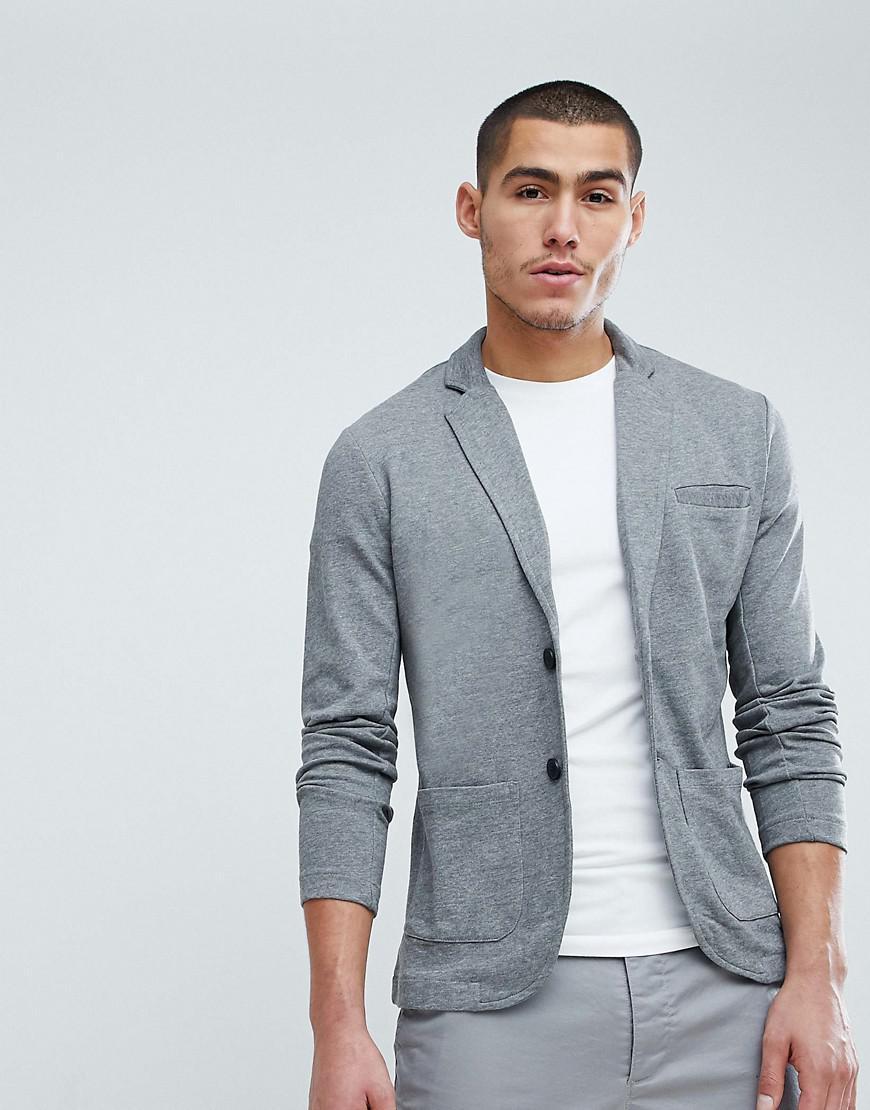 Lyst - Only & Sons Slim Jersey Blazer in Gray for Men
