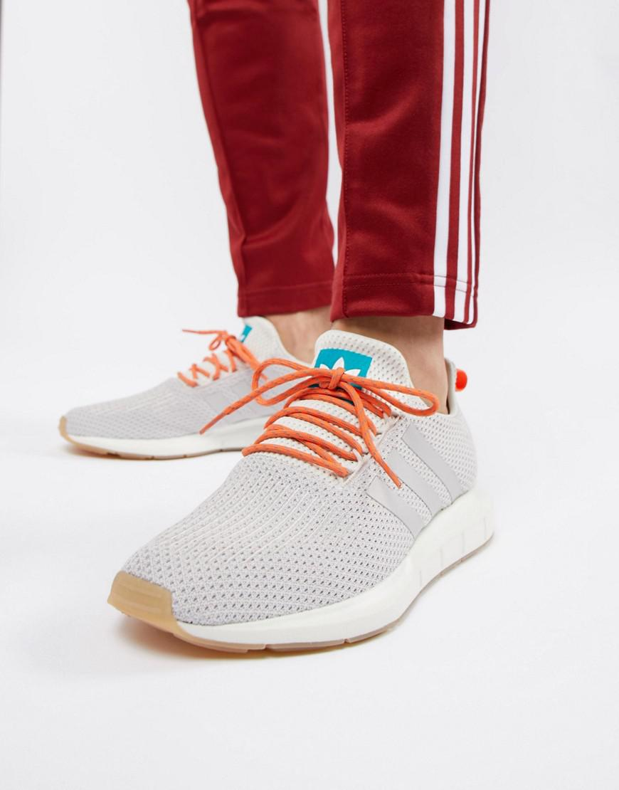 3b165fb364409 adidas Originals Swift Run Summer Sneakers In White Cq3085 in White ...