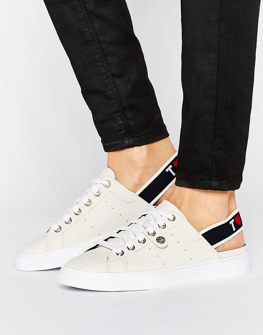 Tommy Hilfiger Canvas Sneakers With Logo Elastic Sling Back IzAqHyVCb
