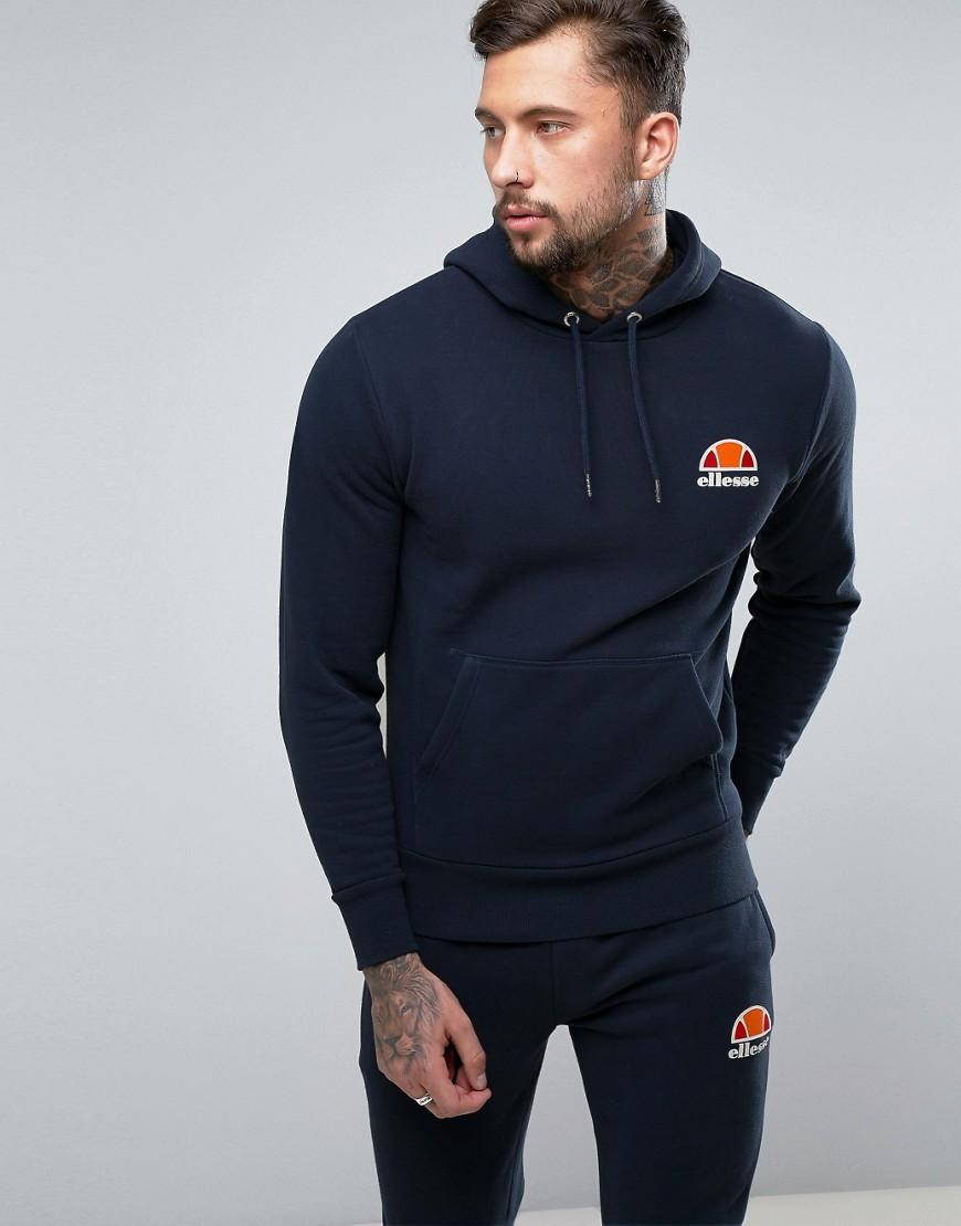 Ellesse Hoodie With Small Logo in Blue for Men | Lyst
