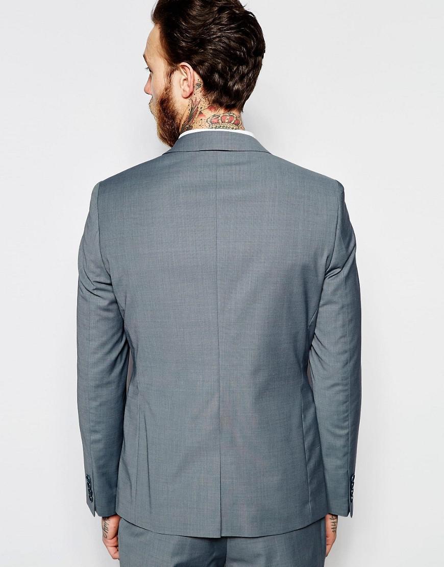 Asos Wedding Skinny Suit Jacket In Tonic in Blue for Men - Lyst