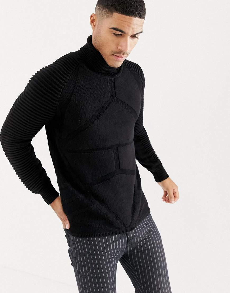 d8171b60b00 G-Star RAW. Men s Suzaki Pro Ribbed Knit Roll Neck Jumper In Black.  167  From ASOS