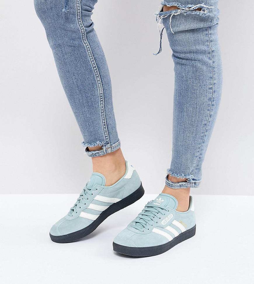 7e138933158 adidas Originals Gazelle Super Trainers In Blue With Dark Gum in ...