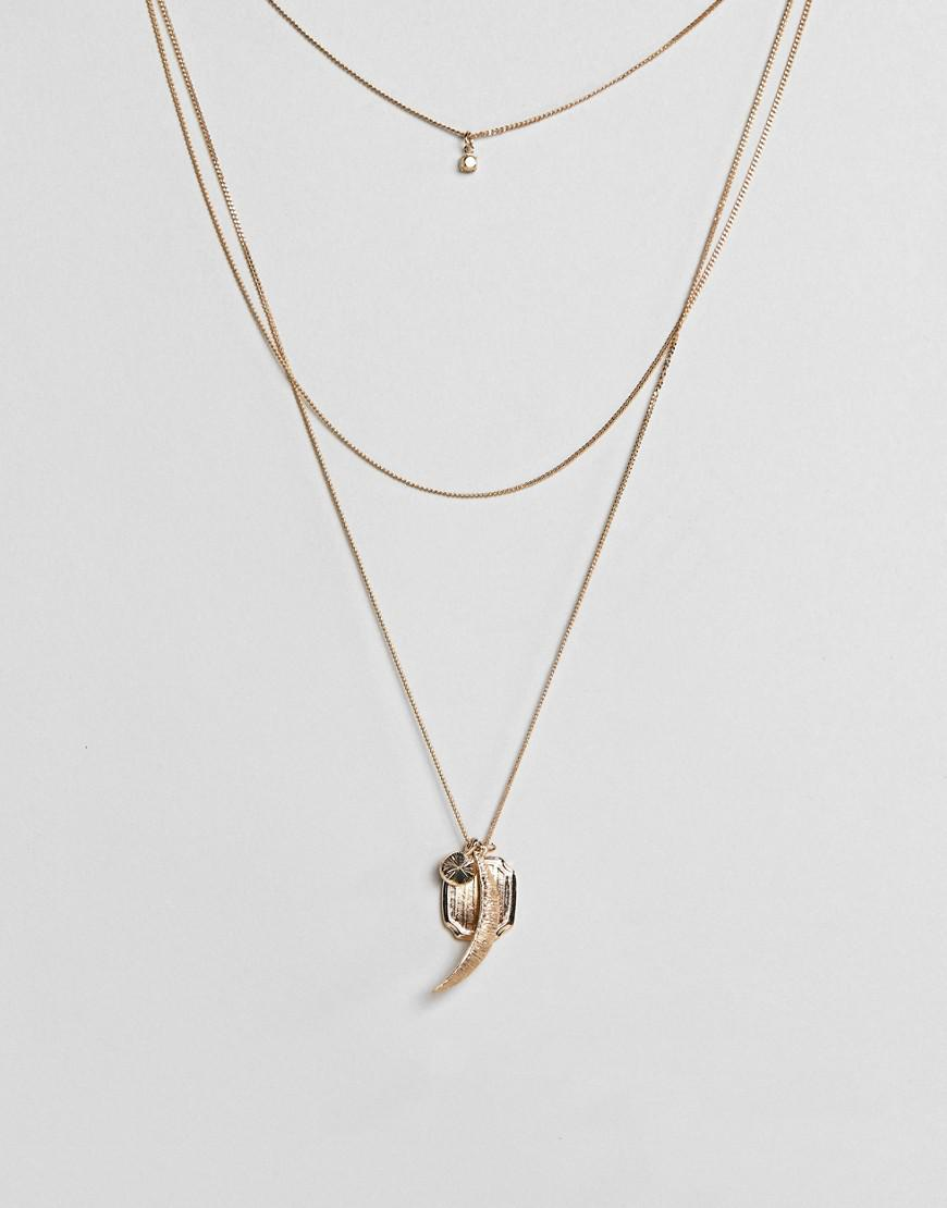 Coin Charm and Tassel Pendants Necklace - Gold Asos gN6hd4sVq