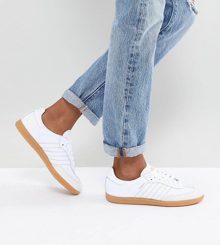 85d488fcd ... official store lyst adidas originals originals samba trainers in off  white with 5eec7 28165