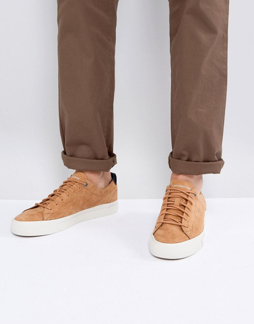 90bbe061d Lyst - Tommy Hilfiger Dino Suede Trainers In Tan in Brown for Men