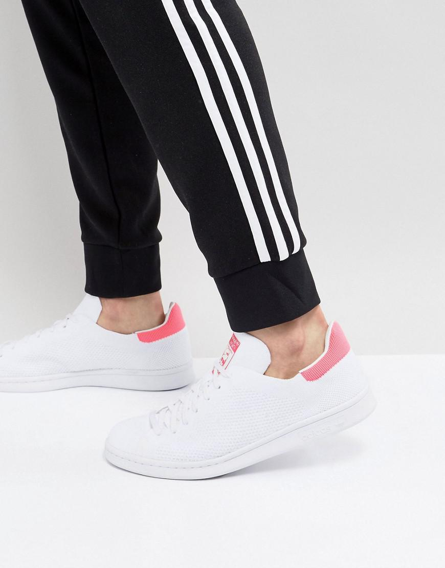 2adbe8272199 Lyst - adidas Originals Stan Smith Primeknit Sneakers In White ...