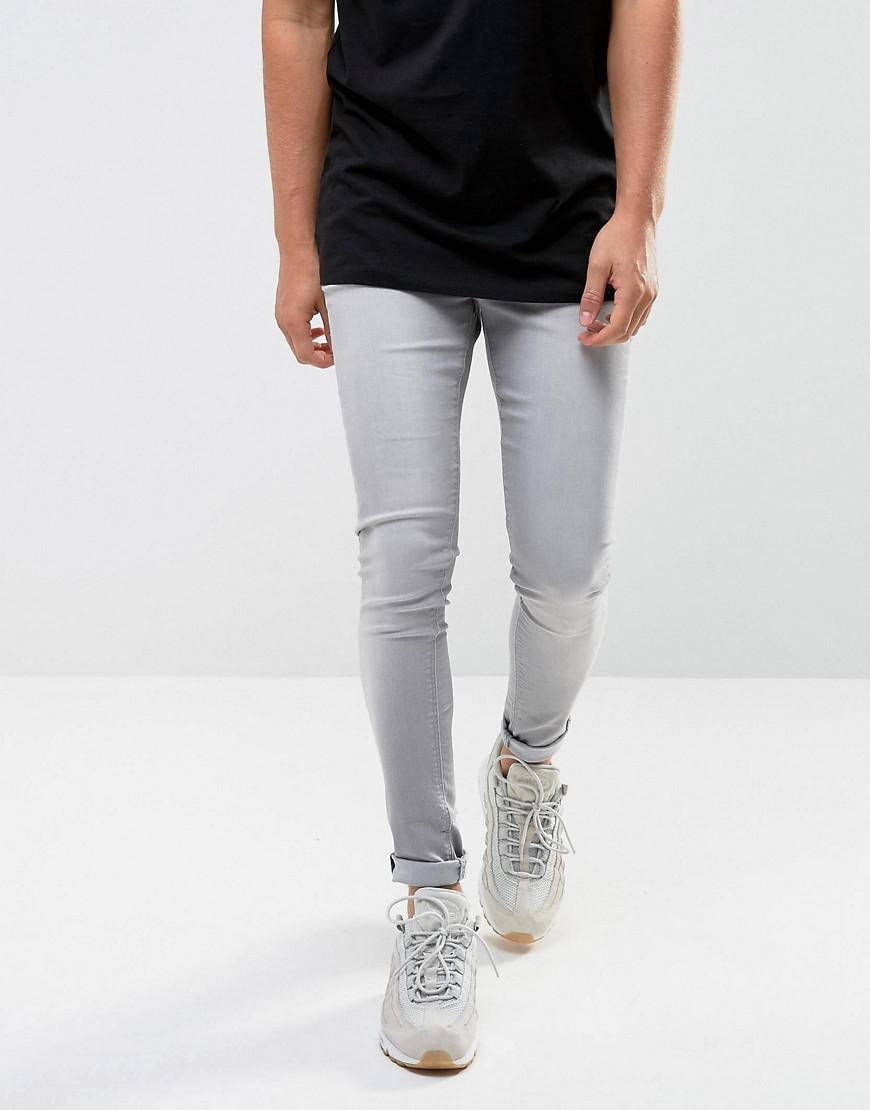 High Quality Online Sale Finishline Super Skinny Spray on Jeans in Charcoal Grey - Grey Wåven Best Store To Get Cheap Online Clearance Inexpensive IeAYc