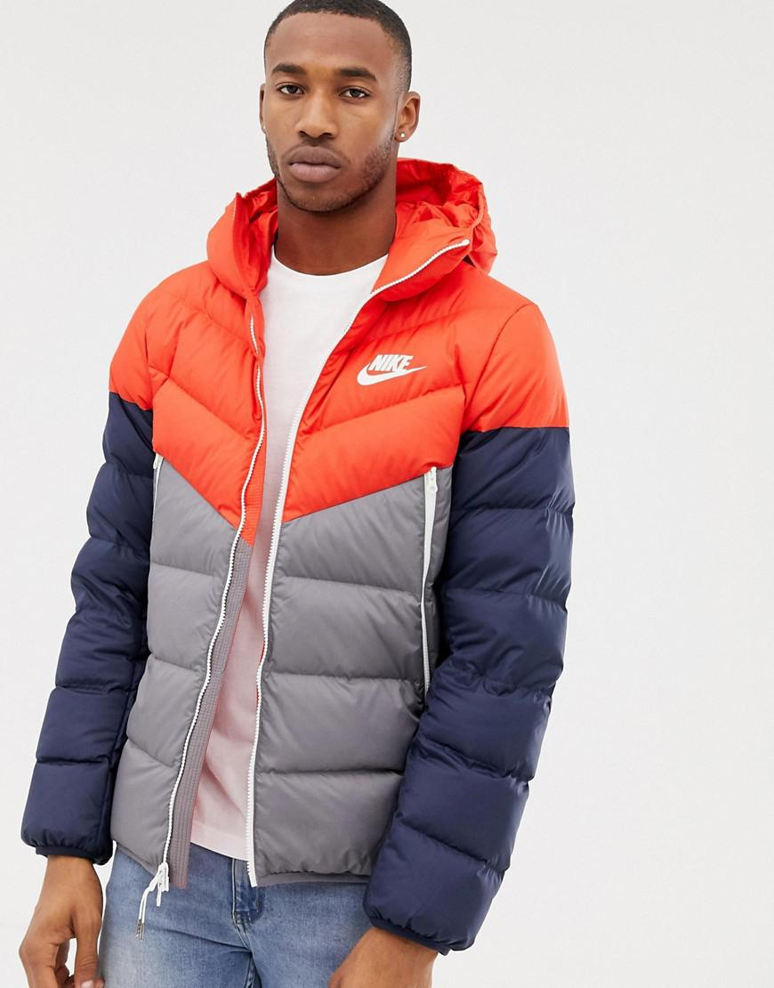 11174f87bd Nike Down Filled Hooded Jacket In Red 928833-634 in Red for Men ...
