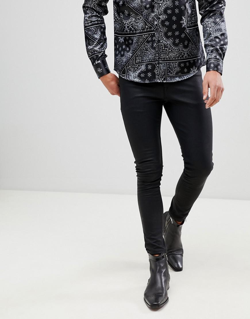4fa2bcac6a1aee ... Skinny Leather Look Jean for Men - Lyst. Visit ASOS. Tap to visit site