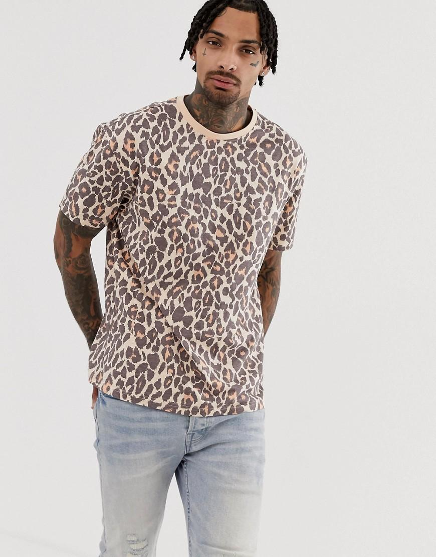 fa36f664 Another Influence Animal Print Boxy T-shirt in Pink for Men - Lyst