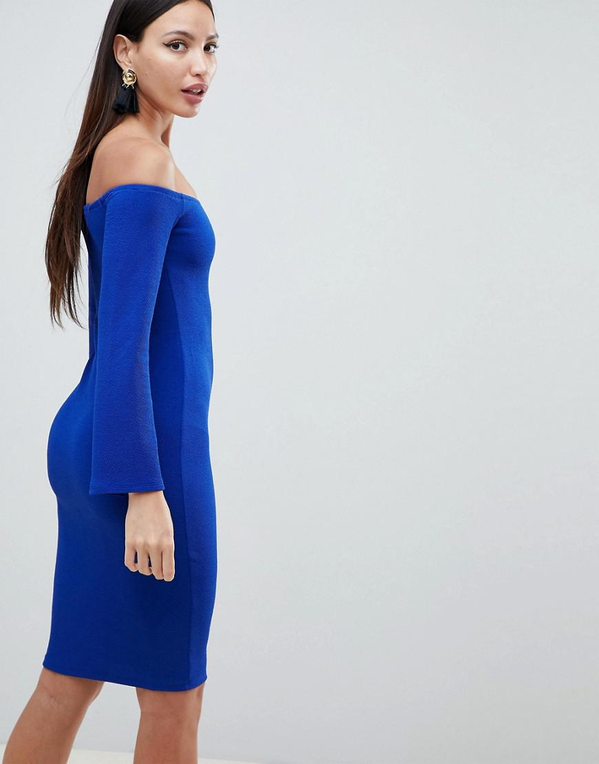 bcbbc8ced9bc AX Paris Flute Sleeve Midi Dress in Blue - Lyst