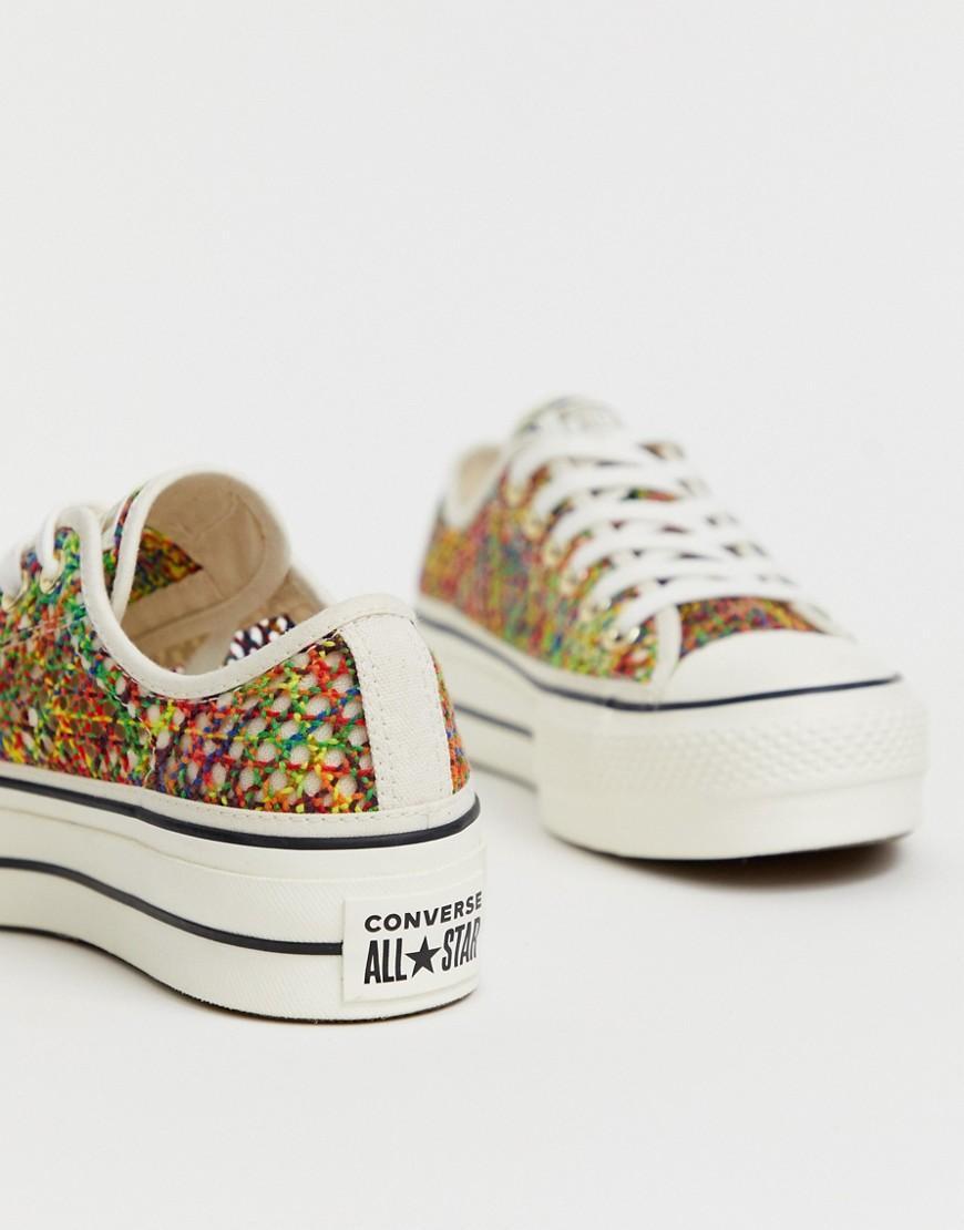 converse crochet platform