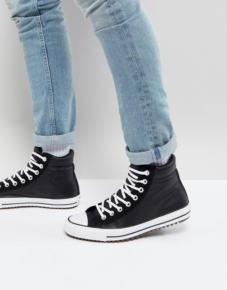 Chuck Taylor All Star Street Sneaker Boots In Black 157496C001 - Black Converse leeparGsSu