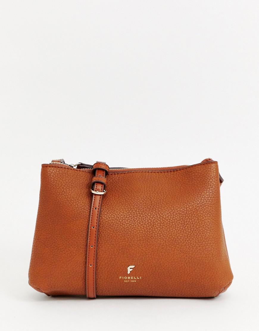 Fiorelli Brown Yasmin Double Zip Cross Body Bag Lyst View Fullscreen